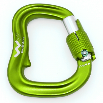 Woody valley Skyway karabiner green and red