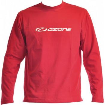 LONG SLEEVE T-SHIRT RED OZONE LOGO