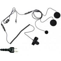 Headset voor de Wouxun KG-UVD1 en MIDLAND CT 790(gesloten helm)