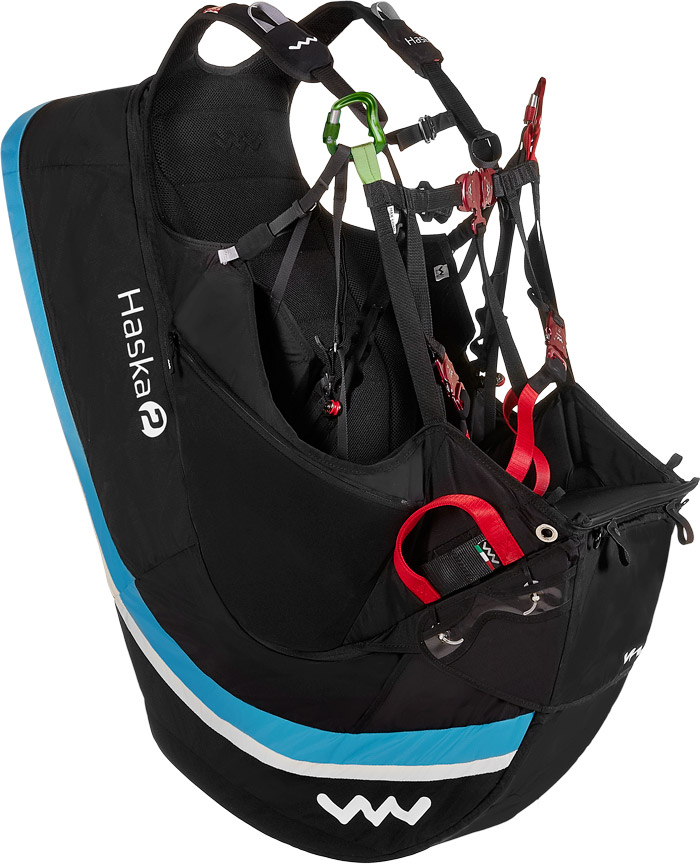 Wani self-inflating airbag harnas (occasion), Groen, Maat XL